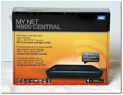 Western Digital My Net N900 Central Disque dur reseau 1 To Wifi Routeur NAS NEUF
