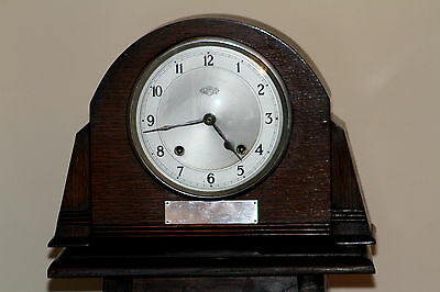 Vintage Art Deco Oak Mantel Clock 'GARRARD' with Chimes