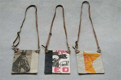 Vintage Style Canvas Cross Body Utility Bag in 3 Styles NWT