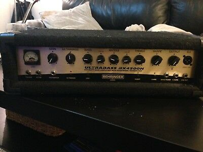 Behringer Ultrabass Bx4500H - Bass Amp Head