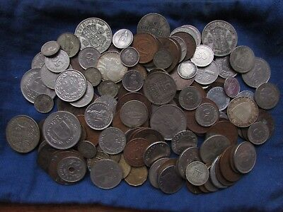 Old british and foreign coins lot