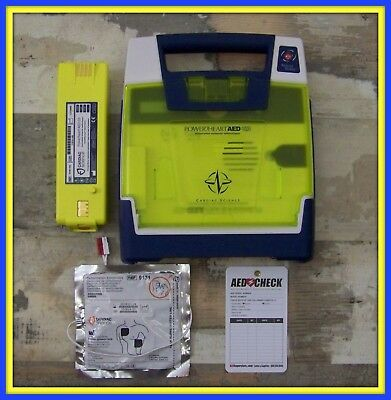 Cardiac Science Powerheart Just Re-certified G3 AED WITH Pads & Battery 9300E