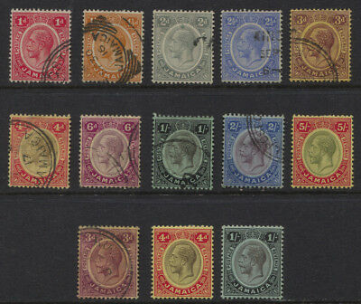 Jamaica 1912 - 1920 GV Sc #61-73 MH / Used Set CV $139.45