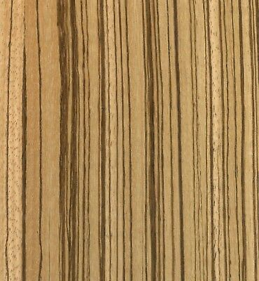"""Exotic Zebrawood Sequenced Matched Veneer Unbacked 3 sq. ft (5.5"""" - 7.5"""" x 12"""")"""