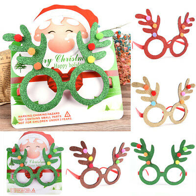 Christmas Santa Claus Glasses Spectacle Frame Costume Christmas Decorations JX