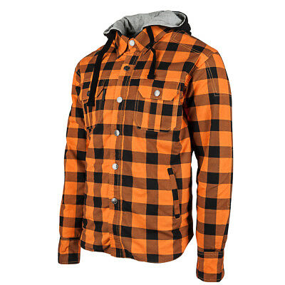 Speed & Strength Standard Supply Mens Armored Moto Shirt Orange