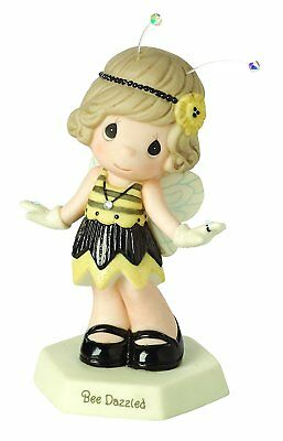 Bee Dazzled Precious Moments Figurine Flapper Girl Fringe Dress Antenna NWOB
