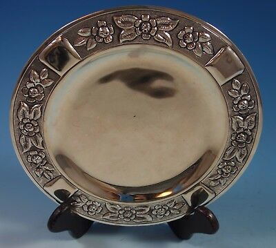 """Aztec Rose by Maciel Mexican Mexico Sterling Silver Dessert Plate 8"""" (#1765)"""