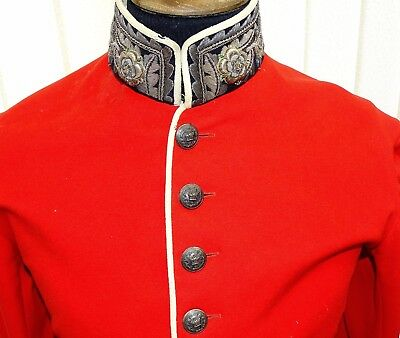 Antique Victorian 19C British Army Officers Jacket / Silver Buttons Fine Bullion
