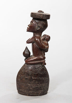 Lumbo Rattle with Female Figure, Gabon, African Tribal Sculpture, African Art