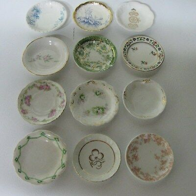 #1 Fabulous Group Of 12 Antique Porcelain Butter Pats