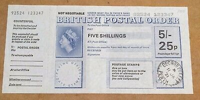 Two British Postal Orders - Sept 1968 and January 1971 Perth - Mint condition.