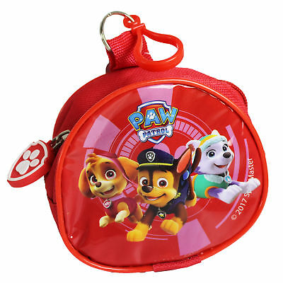 Children's Character PVC Front Coin Wallet Purse with Clip - Paw Patrol