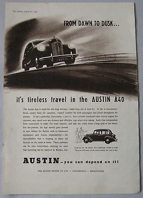 1948 Austin A40 Original advert No.1
