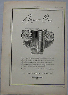 1942 Jaguar Original advert No.3