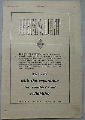 1947 Renault Original advert