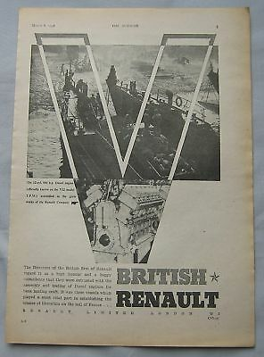 1946 British Renault Original advert