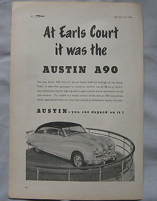 1949 Austin A90 Original advert No.1