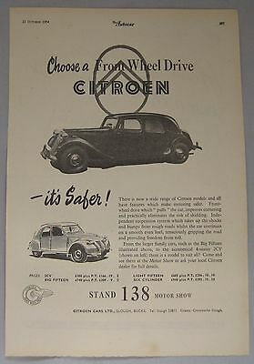 1954 Citroen Original advert