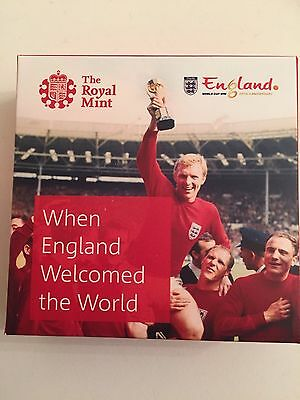 1966 Fifa World Cup 2016 Alderney £5Silver Proof Coin