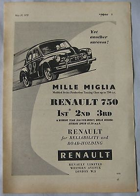 1955 Renault 750 Original advert