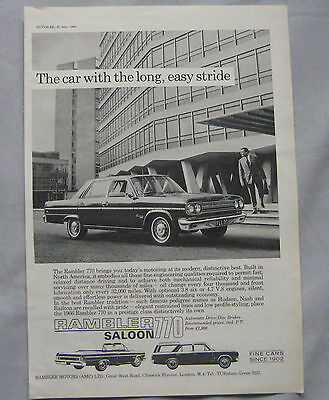1966 Rambler 770 Original advert