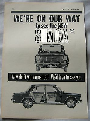 1963 Simca Original advert