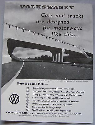1960 Volkswagen Original advert