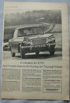 1962 Triumph Vitesse Original advert No.2