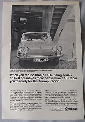 1966 Triumph 2000 Original advert No.3