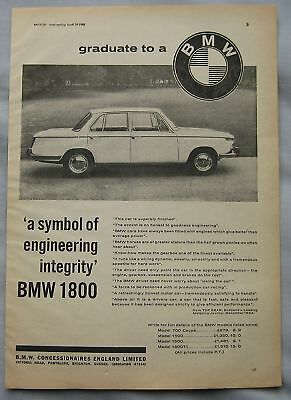 1965 BMW 1800 Original advert