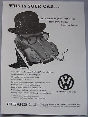 1961 VW Beetle Original advert No.2