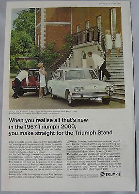 1966 Triumph 2000 Original advert No.4