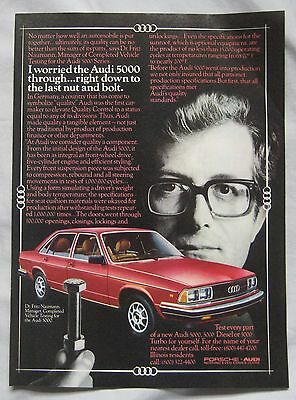 1980 Audi 5000S Original advert