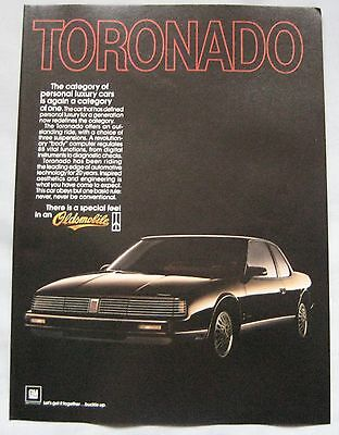 1986 Oldsmobile Tornado Original advert