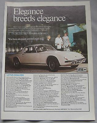 Lotus Original advert No.1