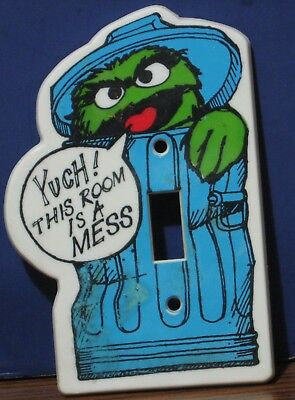 Sesame Street Oscar the Grouch Light Switch Cover - 1980 Vintage
