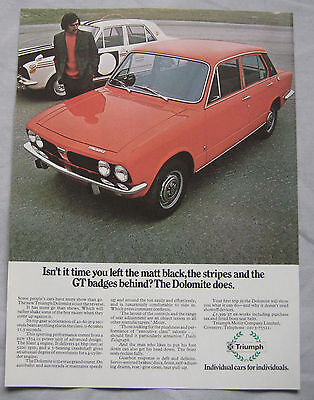 Triumph Dolomite Original advert No.3