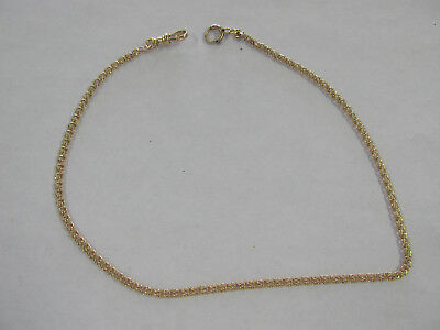 Vintage 14K Yellow Gold National Watch Company Pocket Watch Chain 8 Grams