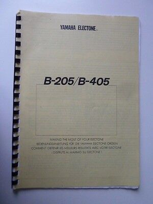 Yamaha Electone B-205/b-405:making The Most Of Your Electone Paperback Book