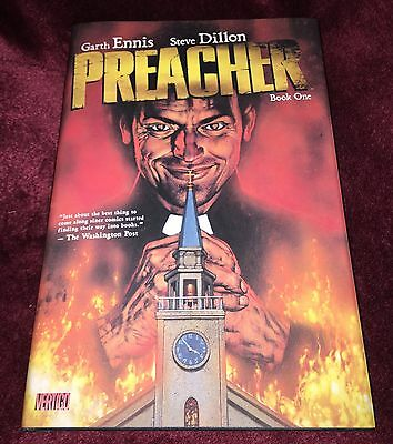Preacher Book 1 Graphic Novel Hardback Issues #1-12 + Extras Garth Ennis New