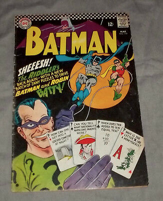 Batman 179  featuring  the 2nd silver age Riddler appearance G+/VG
