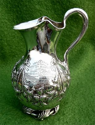 EDINBURGH SILVER JUG PRESENTED AT GARBITY FARMHOUSE, ABERLOUR IN 1858 - 7.47oz