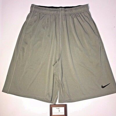 Nike Mens Size Small Dri Fit Fly 2.0 Training Athletic Grey Shorts New