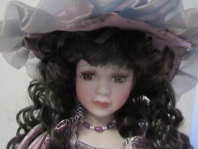 Porcelain Doll fully clothed with stand Homeart Bethany