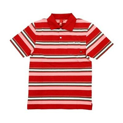 Element Uncle Rico S/S Polo Shirt - Red. Mens Polo Shirt Mens Sale £20 OFF RRP