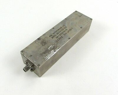 K&L Microwave SMA F Bandpass Filter, 8 Section, 28.50 MHz Center Freq, 3 MHz