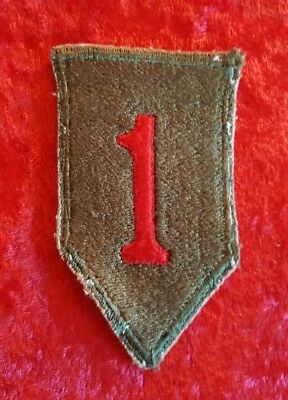 WWII WW2 First 1st Infantry Division Big Red One Patch