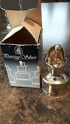 Beautiful vintage made in italy wine,liquor pourer spout silver plated nib