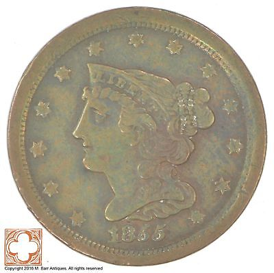 1855 Braided Hair Half Cent *XB86